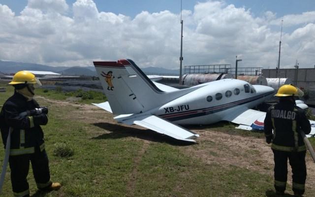 Avioneta se despista en aeródromo de Pachuca - Foto de Criterio Hidalgo