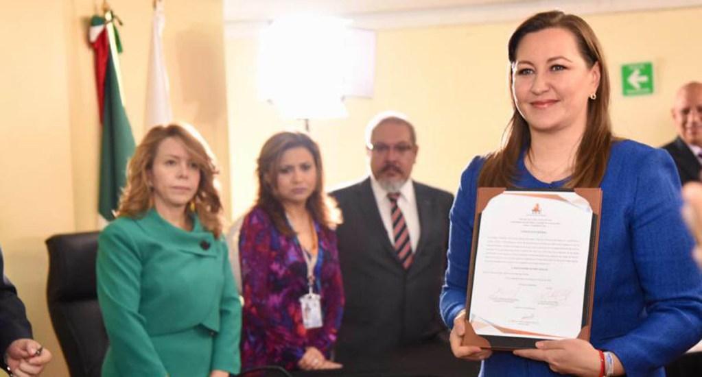 Blindan Instituto Electoral de Puebla para dar constancia a Martha Erika - Foto de @MarthaErikaA