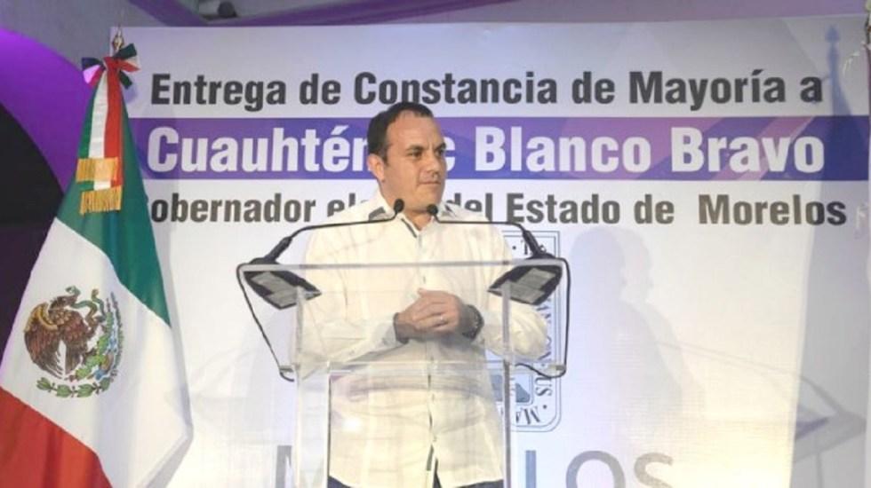 Blanco regresa a Cuernavaca a terminar gestión antes de ser gobernador - Foto de @cuauhtemocb