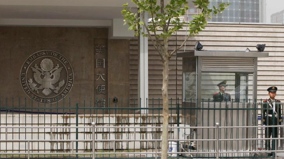 #Video Explosión afuera de embajada de EE.UU. en Pekín - Foto de EFE