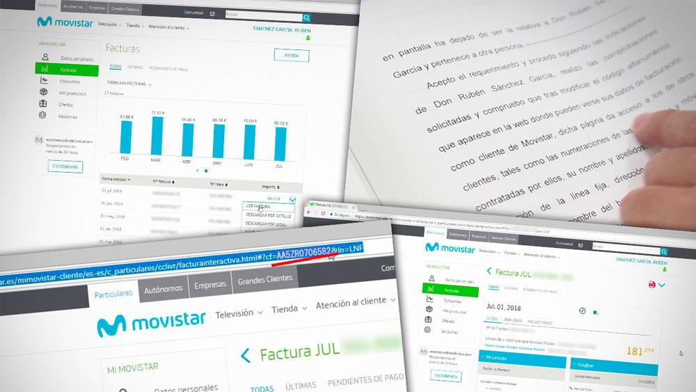 FACUA denuncia un agujero de seguridad en la página web de Movistar