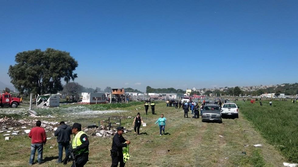 Lamenta EPN muerte de 19 personas por explosión en Tultepec - Foto del GEM