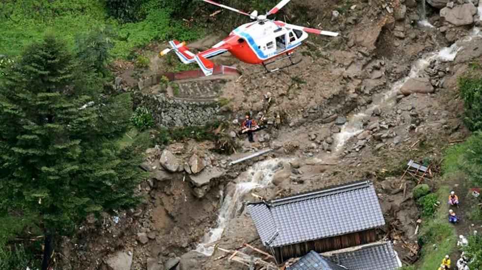 Lluvias dejan al menos 38 muertos y 50 desaparecidos en Japón - Foto de AP