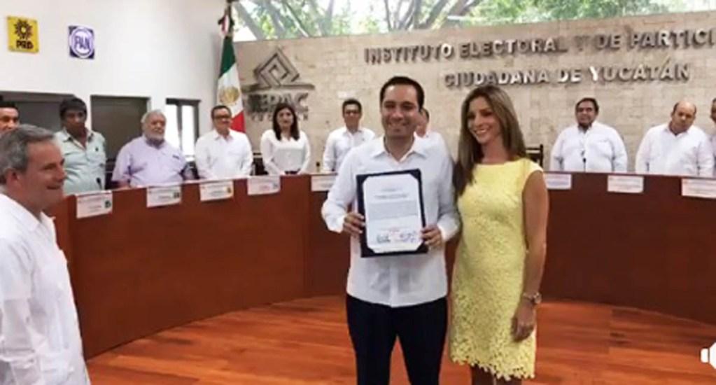#Video Mauricio Vila recibe constancia como gobernador de Yucatán - Foto Captura de Pantalla