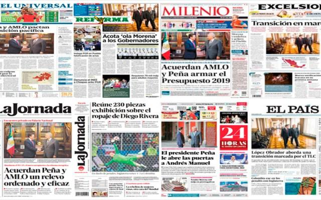 AMLO, EPN y Polonia en primeras planas