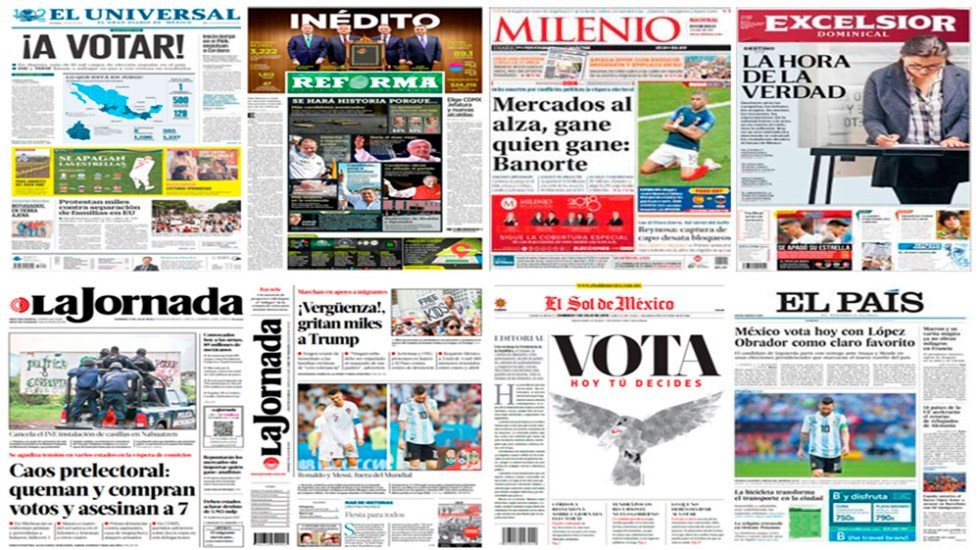Elecciones en México en primeras planas