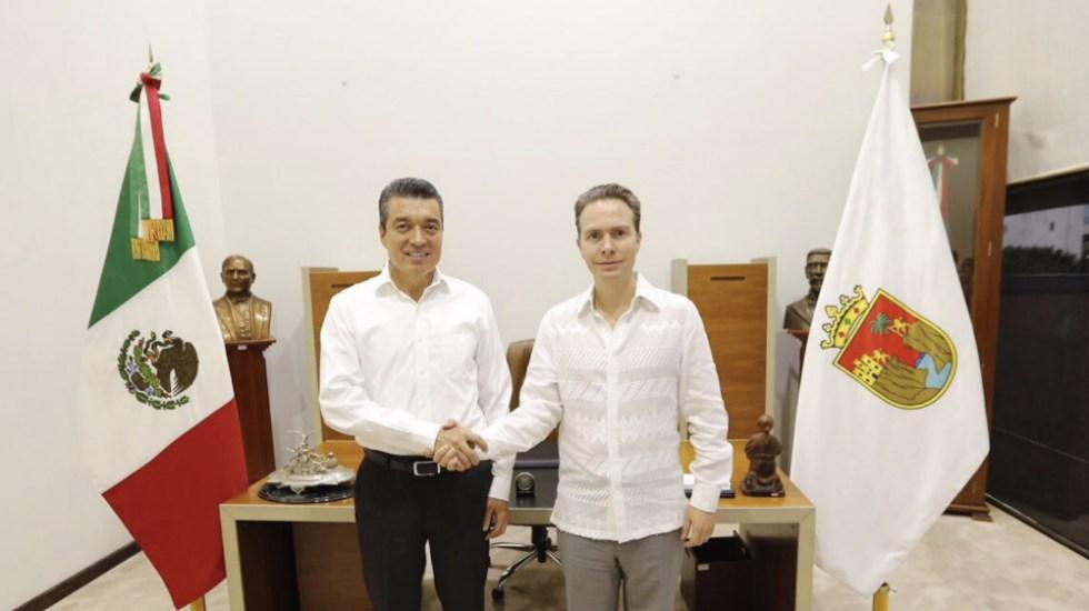 Rutilio Escandón se reúne con gobernador Manuel Velasco - Foto de @VelascoM_
