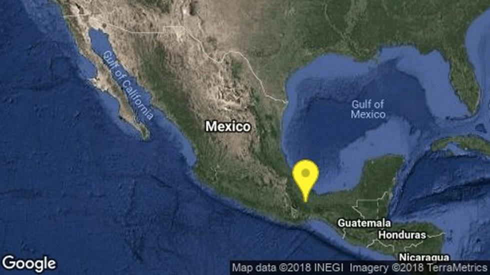 Sismo 4.8 sacude Veracruz - Foto de Twitter Sismológico Nacional