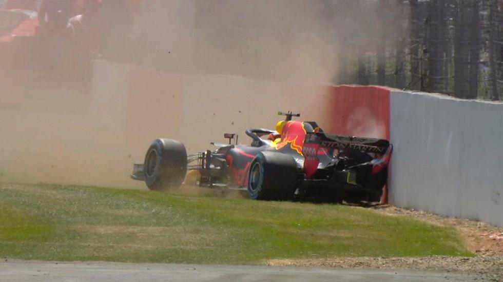 #Video Verstappen y Grosjean accidentados en prácticas del GP de Gran Bretaña - Foto de @F1