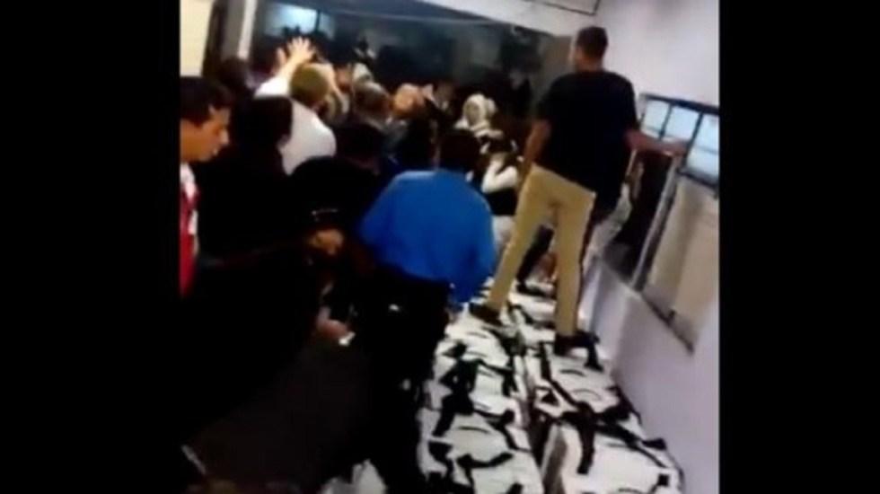 #Video Amedrentan a funcionarios de casilla en sede distrital de la GAM - Foto Captura de Pantalla