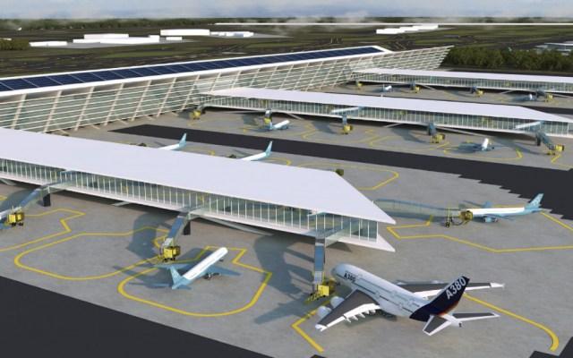 Suspenden obras del Aeropuerto de Santa Lucía por tiempo indefinido - Proyección del Aeropuerto de Santa Lucía. Foto de Grupo Riobóo