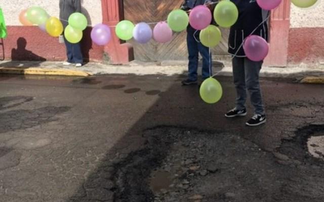 #Video Celebran el cumpleaños de bache en Toluca - Foto de Quadratín