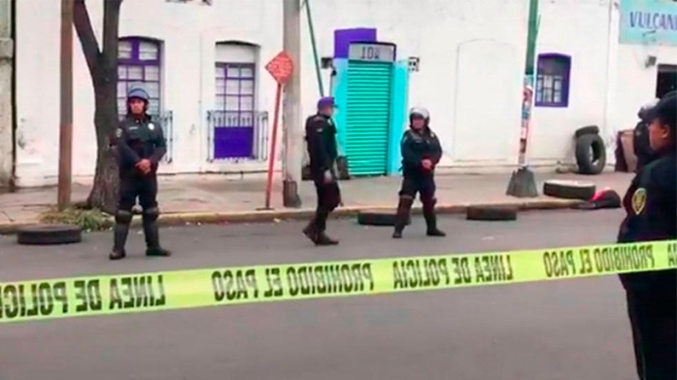 Balacera deja dos muertos en la colonia Morelos - Foto de @Clave3CDMX