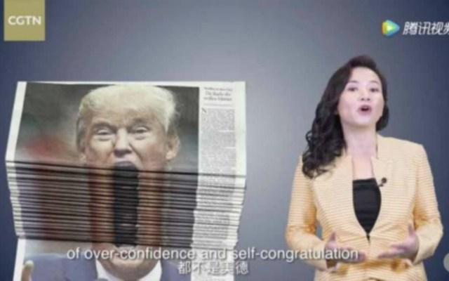 #Video Televisión china se burla de Donald Trump - Foto de Internet