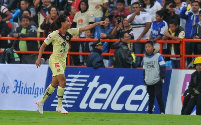 Un brillante Diego Lainez da victoria al América sobre Pachuca - Foto de AFP