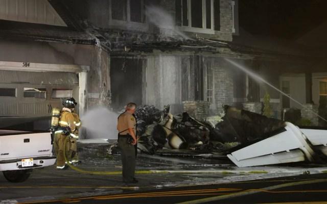 Sujeto estrella avión en su casa de Utah tras pelear con su esposa - Foto de @KSLSharaPark