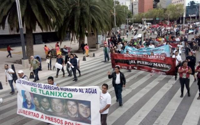 Manifestantes afectan circulación en Paseo de la Reforma - Foto de @OVIALCDMX