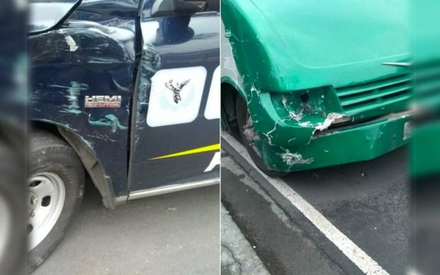 Microbús golpea a patrulla y hiere a policía en Iztapalapa - Foto de @diario24horas