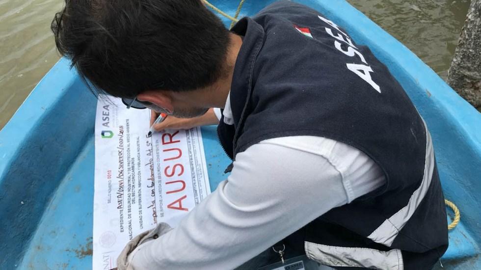 Clausuran pozo en hábitat de manatíes en Tabasco - Foto de ASEA