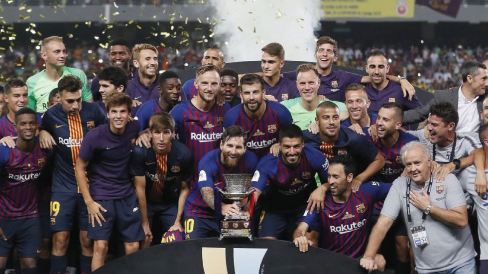 Barcelona se lleva la Supercopa de España al vencer al Sevilla 1-2