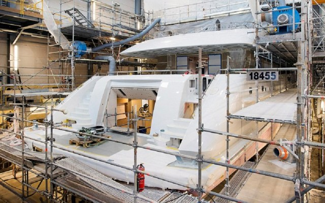 El impresionante proceso de construcción de un yate de lujo - Foto de Reuters