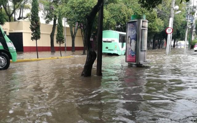 Alerta en 10 delegaciones por lluvias - Foto de @JulietaTrejo