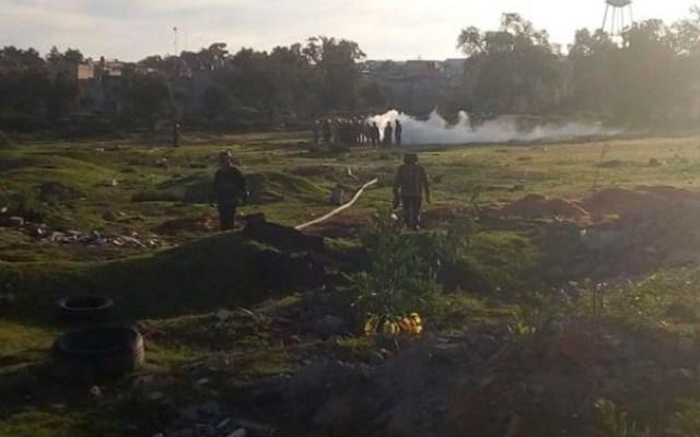 Fuga de gas en toma clandestina de Ecatepec - Foto Especial