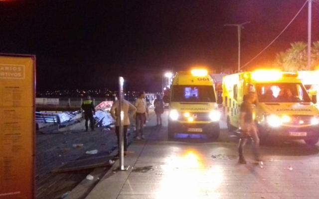 Más de 300 heridos por derrumbe durante concierto en España - Foto de Faro de Vigo.
