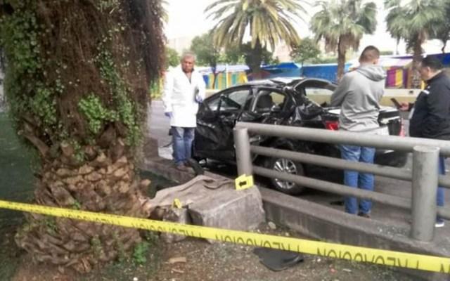 Automovilista mata en choque a su copiloto en Jardín Balbuena - Foto de Quadratín