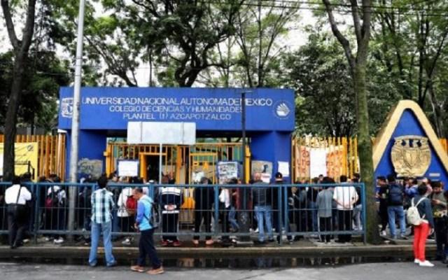 CCH Azcapotzalco seguirá en paro pese a reanudación de clases - UNAM