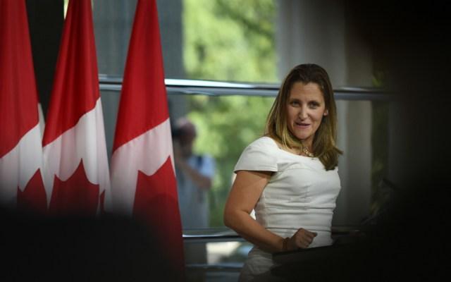 Canciller canadiense pospone discurso en ONU por negociaciones del TLCAN - Foto de AFP