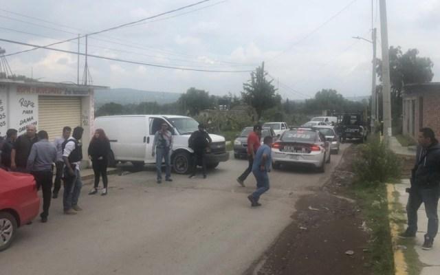 Intentan linchar a policías en Edomex - Foto de @HEstadodeMex