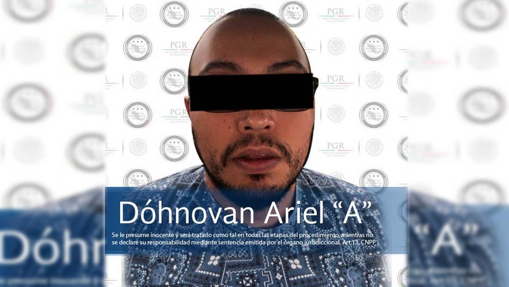 Detienen a 'Vito AG', presunto líder de 'Los Mazos'