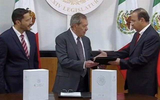 Navarrete Prida entrega al Congreso de la Unión sexto y último Informe de EPN - Foto de captura de pantalla