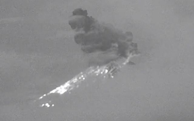 #Video Volcán Popocatépetl registra explosión esta madrugada - Foto de @webcamsdemexico