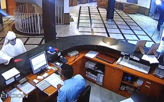 "#Video ""Fantasma"" intenta robar hotel con pistola en mano - Foto Captura de Pantalla"