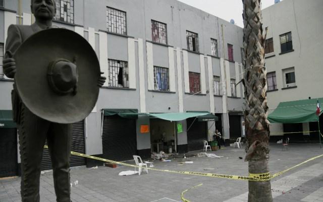 #Video Los minutos posteriores a la balacera en Garibaldi - Negocio donde ocurrió el ataque armado. Foto de AFP