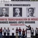 Gabinete de López Obrador viajará a Canadá el lunes - Mitin de AMLO en Tlatelolco. Foto de @PartidoMorena