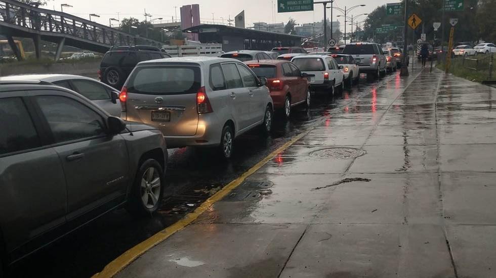 Afectaciones en la Ciudad de México por las lluvias de este miércoles - Foto de @verduzco74