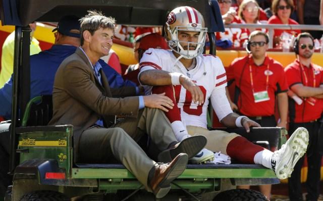 Garoppolo dice adiós a la temporada de la NFL - Foto de AFP