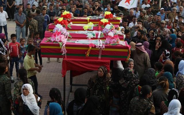 Más de tres mil civiles han muerto por bombardeos de EE.UU. en Siria - Foto de AFP / Delil Souleiman