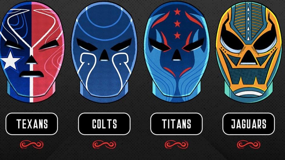 Revelan máscaras de luchador inspiradas en equipos de la NFL