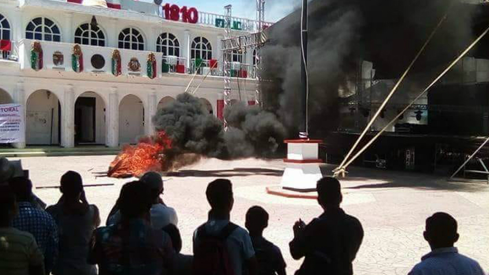 Cancelan festejos patrios en un municipio de Chiapas - Foto de Milenio
