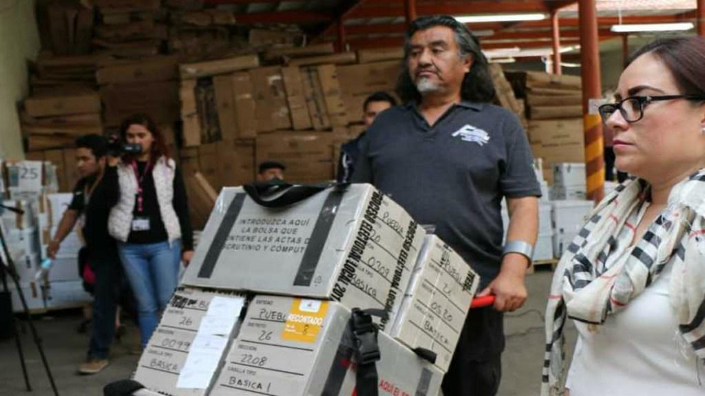 Trasladan paquetes electorales de Puebla a la Ciudad de México. Noticias en tiempo real