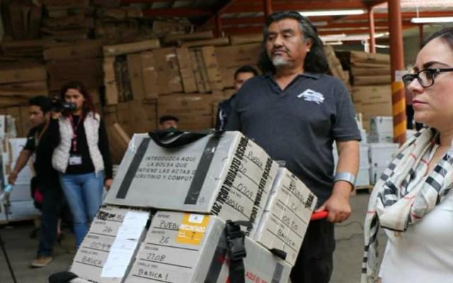 Llegan con retraso paquetes electorales de Puebla - Foto de Internet