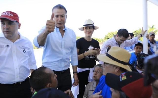Urge gobernador de Sinaloa a liberar fondo revolvente del FONDEN - Foto de @QuirinoOC