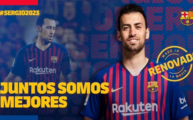 Busquets renueva con el Barcelona hasta 2023 - Foto de @FCBarcelona_es