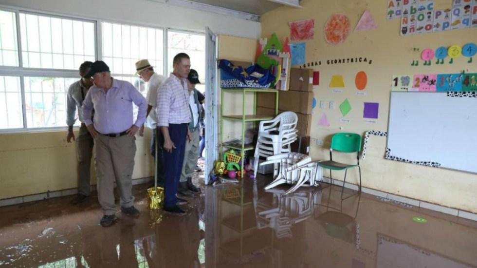 Secretarios evalúan daños en zonas afectadas por lluvias en Sinaloa - Foto de @QuirinoOC