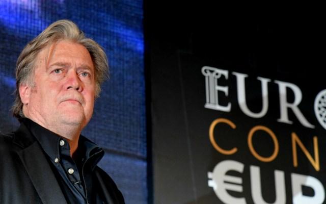 Steve Bannon ofrece ayuda a populistas con miras a las elecciones europeas - Foto de AFP