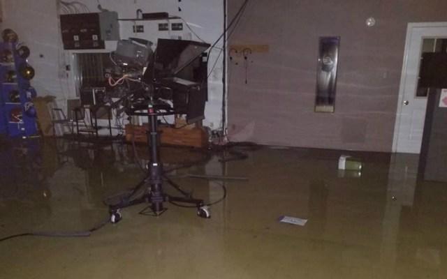 Televisora en Carolina del Norte tuvo que ser evacuada a causa de Florence - Foto de @wcti12